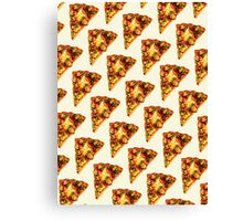 Pizza Pattern Canvas Print