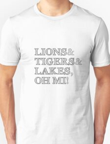 Lions and Tigers and Lakes, Oh MI! T-Shirt