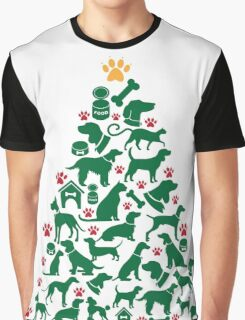 Christmas Animal Tree Graphic T-Shirt