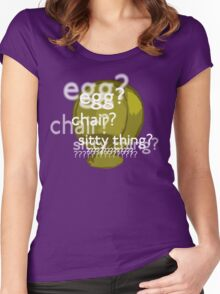 Egg? Chair? Sitty thing?  Women's Fitted Scoop T-Shirt
