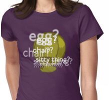 Egg? Chair? Sitty thing?  Womens Fitted T-Shirt