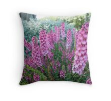 Purple flowers close-up Throw Pillow