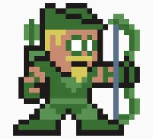 8-bit Green Arrow One Piece - Long Sleeve