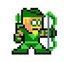 8-bit Green Arrow Photographic Print