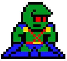 8-bit Martian Manhunter by 8 Bit Hero