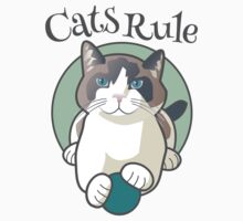 Cats Rule One Piece - Short Sleeve
