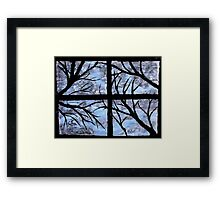 """A Winter View"" by Carter L. Shepard Framed Print"