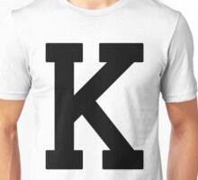 Letterman K Unisex T-Shirt