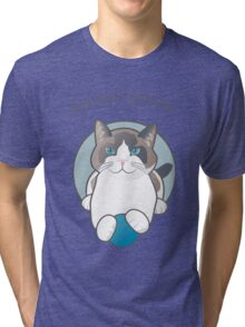 Forever Young Playful Snowshoe Cat Tri-blend T-Shirt