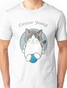 Forever Young Playful Snowshoe Cat Unisex T-Shirt