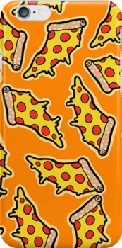 Pizza Phone Case by geothebio