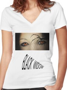 Black Widow T Shirts & Stickers Women's Fitted V-Neck T-Shirt
