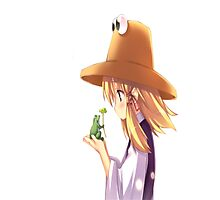 Suwako and frog :3 Photographic Print