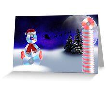 Christmas CD Man Greeting Card