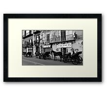 Horse Carriages in Palermo, Italy. 2014 Framed Print