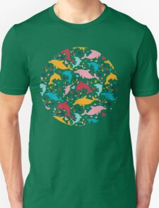 Cute colorful dolphins pattern Unisex T-Shirt