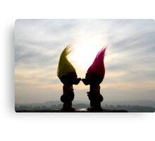 trolls in love Canvas Print