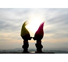 trolls in love Photographic Print