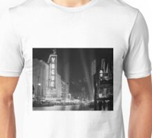 Vogue Theatre at night with spotlights Unisex T-Shirt