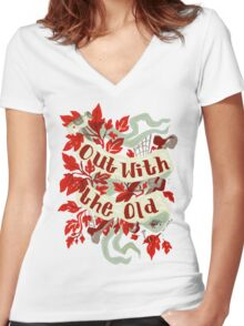 In With the new Women's Fitted V-Neck T-Shirt