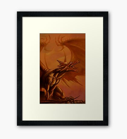 Screaming Dragon by William Kenney Framed Print