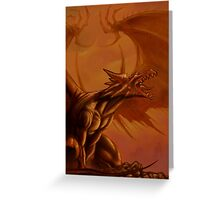 Screaming Dragon by William Kenney Greeting Card