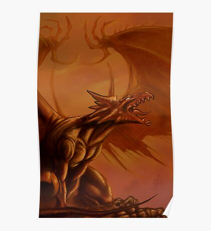 Screaming Dragon by William Kenney Poster
