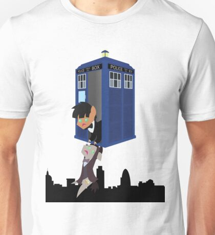 Doctor Whooves - Dangle over London Unisex T-Shirt
