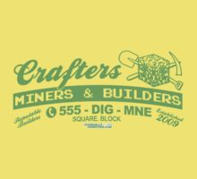 Crafters, Miners and Builders Kids Tee