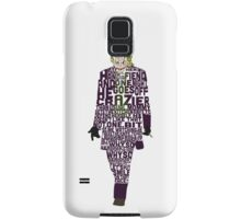 Joker from The Dark Knight Typography Design of His Quote Samsung Galaxy Case/Skin