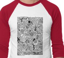 Doodles are a Waste of time Men's Baseball ¾ T-Shirt