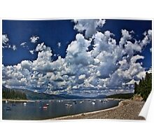 Cloud Parade Over Jackson Lake Poster