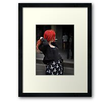 The Girl with Red Hair Framed Print
