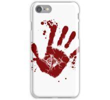 zombie handprint iPhone Case/Skin