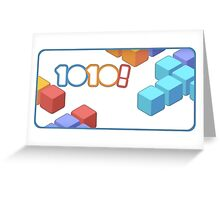 1010! The Addictive Puzzle Game Greeting Card
