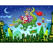 Santa changed his reindeer for a dragon Photographic Print