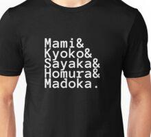 Madoka Magica Jetset - White Unisex T-Shirt