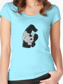 Contortionist Panda Women's Fitted Scoop T-Shirt