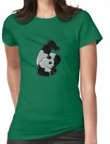 Contortionist Panda Womens Fitted T-Shirt