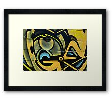 Graffiti close up - Framed Print
