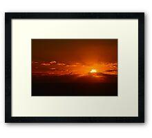 Sunrise Glory Framed Print