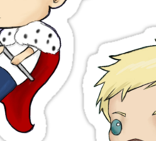 Moriarty and Moran chibis Sticker