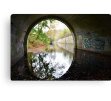 Graffiti under a bridge - Canvas Print