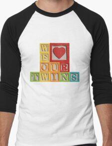 We Love Our Twins Men's Baseball ¾ T-Shirt