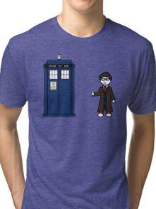 Dr Who (10) car sticker family (also shirts) Tri-blend T-Shirt