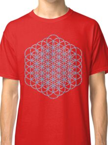 Flower Of Life - Sacred Geometry Blue Classic T-Shirt