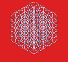 Flower Of Life - Sacred Geometry Blue Unisex T-Shirt