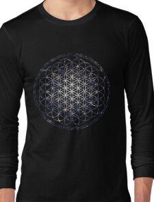 Flower Of Life - Sacred Geometry Star Cluster Long Sleeve T-Shirt