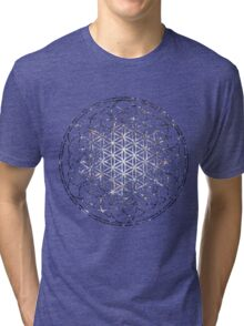 Flower Of Life - Sacred Geometry Star Cluster Tri-blend T-Shirt