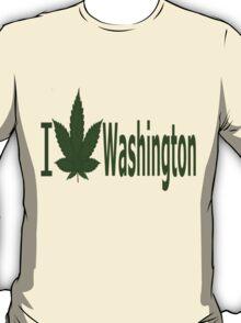 0245 I Love Washington  T-Shirt